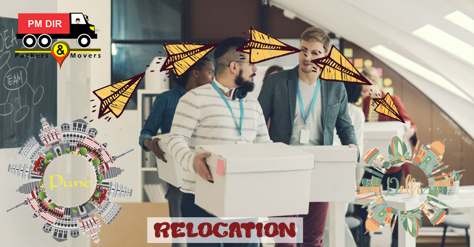 Office relocation from Pune to Delhi
