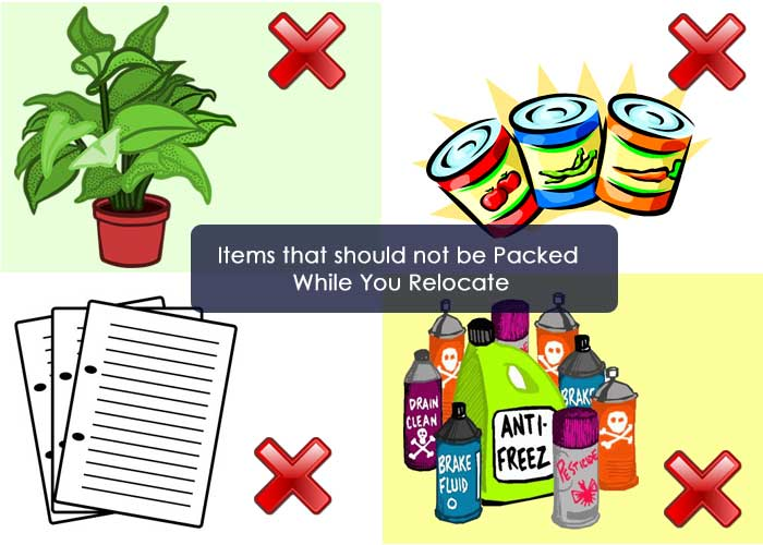 Items that should not be Packed While You Relocate