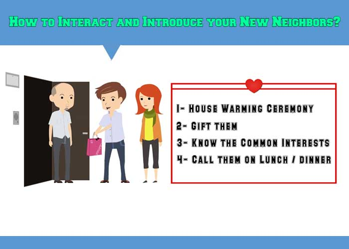 How to Interact and Introduce your New Neighbors?
