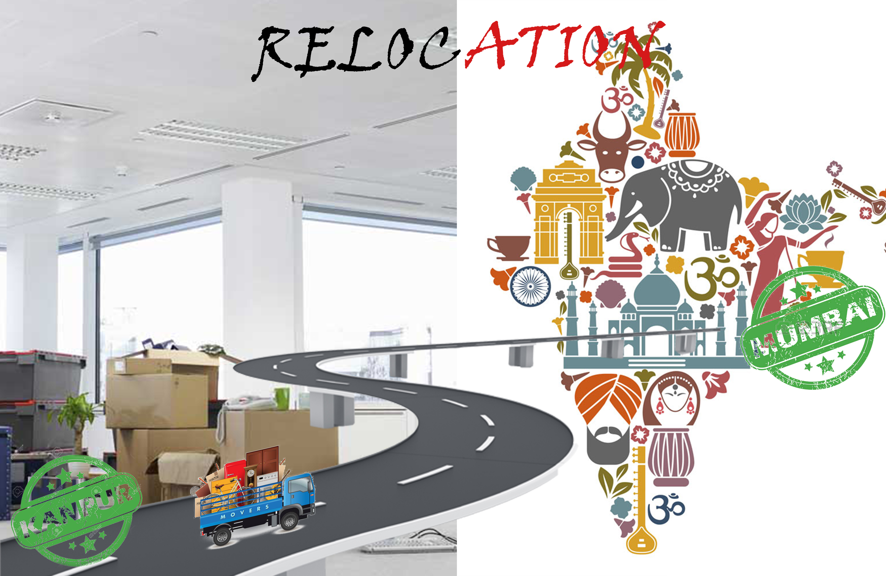 Commercial relocation service from Kanpur to Navi Mumbai